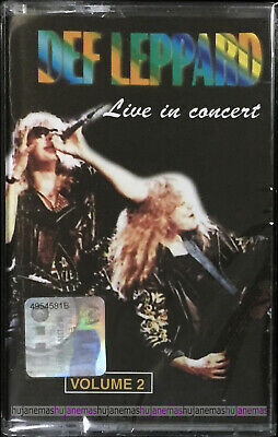 DEF LEPPARD Live In Concert Volume 2 MALAYSIA CASSETTE RARE NEW SEALED FREE SHIP