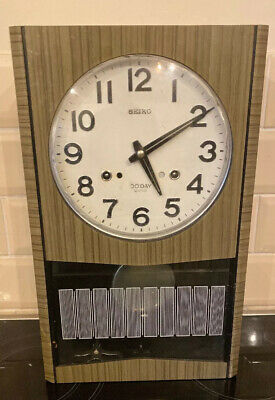 Vintage Seiko 30 Day Pendulum Wall Clock Made in Japan