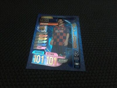 Topps Match Attax 19/20, Champions & Europa league,100 club, LIONEL MESSI 331