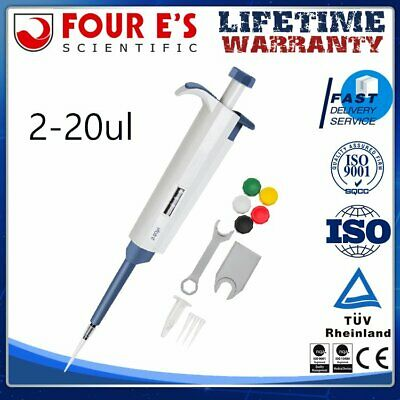 Top Pipettor 2-20ul Adjustable Single Channel Micropipette, Liquid Pipetman New