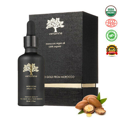 ARGAN OIL 100% Cold Pressed Pure Certified Organic Skin  Hair Face Treatment