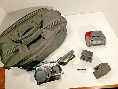 Canon AE-1 Program 35mm SLR Film Camera with Winder, Data Back, Filters, Extensi