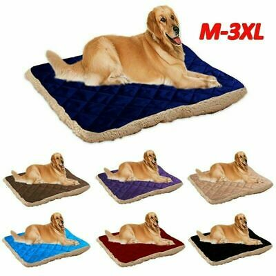 Plush Dog Bed Warm Soft Pets Cat Cushion Sleeping Mat Cozy Kennel Washable CHH