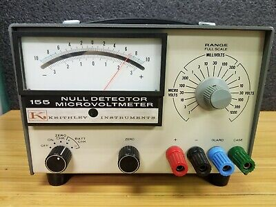 Keithley Instruments 155 Null Detector Microvoltmeter #M-102