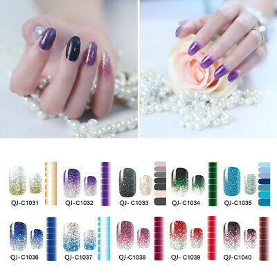 Gradient Color Nail Polish Strips - Regular, Petite, Pedicure  Nail Art Sticker