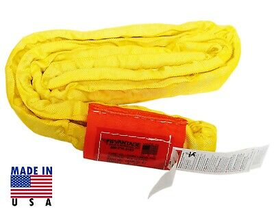 USA DOMESTIC 10' YELLOW Endless Round Lifting Sling Crane Rigging Recovery