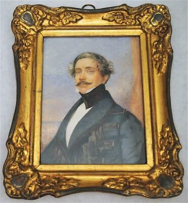 Very Fine Rare Early 19Th Century Portrait Miniature Circa Georgian / Victorian