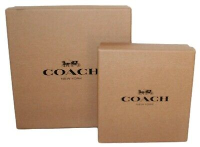 "2 COACH Small Retail Brown Gift Box 6.5x4.5x2/""  NEW Empty"
