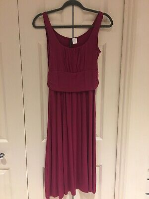 Beautiful Pink Breastfeeding Dress from Mothers En Vogue, Size Small (UK 8/10)