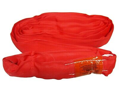USA 4' RED Endless Round Lifting Sling Crane Rigging Wrecker Recovery