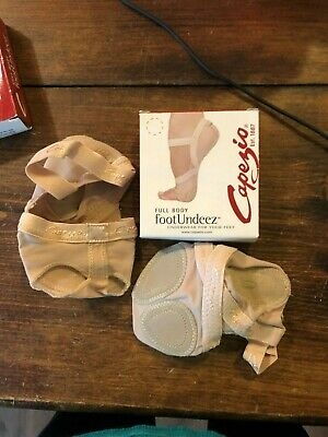 NIP New Capezio FootUndeez Shoe Foot Underwear Nude NUD H07 Dance Women