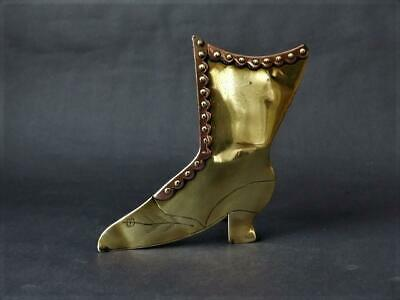 Victorian Brass Fireside Spill Vase In The Shape Of A Boot