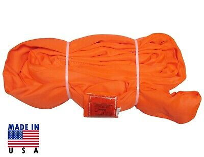 USA DOMESTIC 16' ORANGE Endless Round Lifting Sling Crane Rigging Recovery