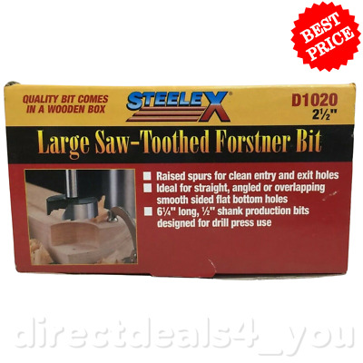 "(New) Steelex D1020  2-1/2"" Large Saw-Toothed Forstner Bit"