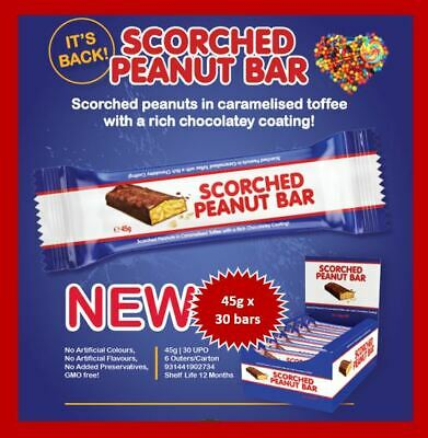 Scorched Peanut Bar 45G X 30Ct Made In Australia