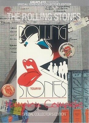 The Rolling Stones Hampton Complete 1982 Collector's Edition 2 CD 1 DVD Case Set