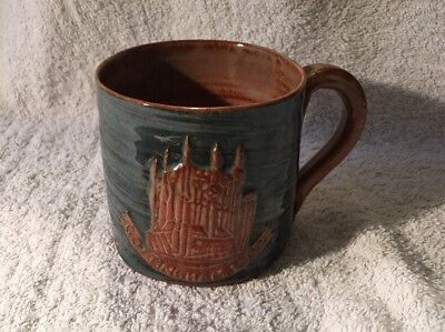 Wold Hand Thrown Glazed Pottery Tankard, Routh, Beverley - Cottingham 1974