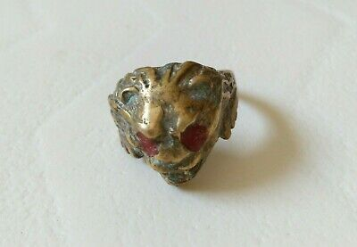 Extremely Ancient Bronze Ring Viking Artifact Bronze Ring Authentic Rare Type