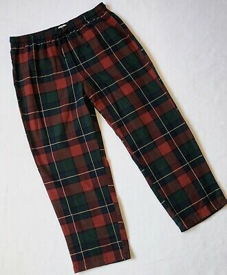 L.L.Bean Sleep Pants Flannel Scotch Plaid Elastic Waist Drawstring Men's XL NWT
