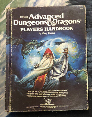 Offical Advanced Dungeons & Dragons# Hardcover 1978 Players Handbook - JS