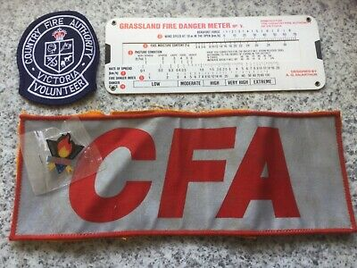 CFA Country Fire Authority Patches Badge Fire Danger Meter Great Collectables