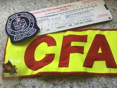 CFA Country Fire Authority Patches Badge Fire Danger Meter Great Collectables.