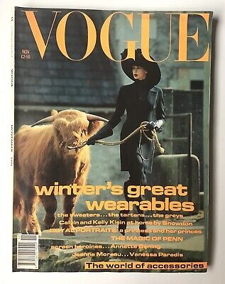British VOGUE Magazine Nov 1991, Prince Harry, Princess Dianna, Kelly Klein