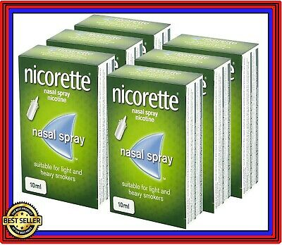 Nicorette Nasal Spray Fast Acting Relief 10ml x 6 Pack