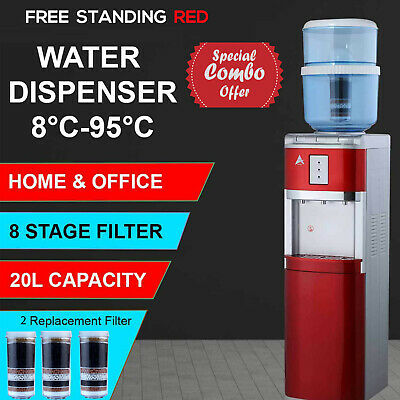 Water Cooler 8 Stage Water Filter Purifier Floor Standing 20L Bonus 2 Filters