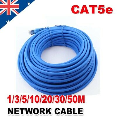 Ethernet High Speed CAT5e 1M-50M 24AWG Internet Network Lan Cable Cord Lead RJ45