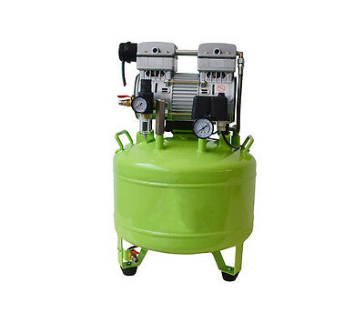 CE Medical Noiseless Oil Free Oilless Air Compressor 40L 800W F 2 Dental Chairs