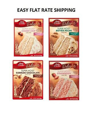 Betty Crocker Delights / Favorites CAKE MIX 15.5 oz - 1 CAKE MIX BOX PER ORDER