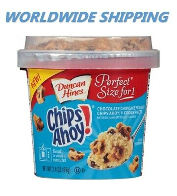 Duncan Hines Perfect Size for 1 Chips Ahoy! Chocolate Chip Cake Mix WORLD SHIP