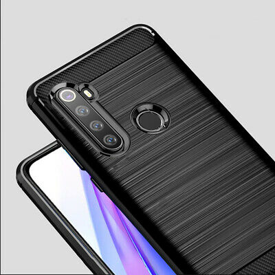 For Xiaomi Redmi Note 8T 8 Pro Matte Soft TPU Case Carbon Fiber Shockproof Cover