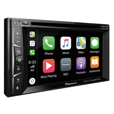Pioneer AVH-1400NEX RB Double 2 DIN DVD/CD Player Bluetooth iPhone CarPlay