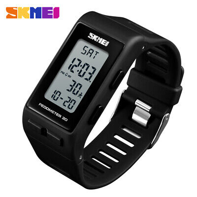 Mens Sports Watch 3D Step Counter Digital Wrist Watch Waterproof Shockproof UK