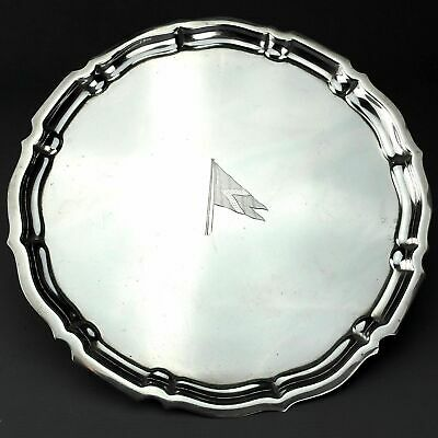 Antique Gorham Solid Sterling Silver Tray / Salver, Chippendale, 1955, 510g