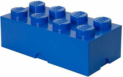 LEGO Brick 8 Knobs Stackable Storage Box, 12 Litre, Blue