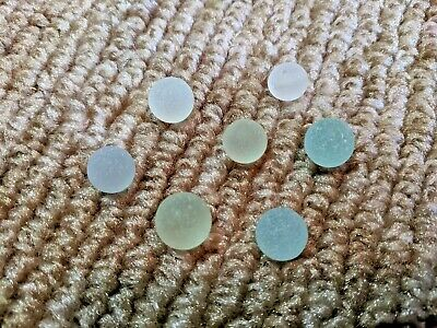 7 Mini Sea Glass Marbles