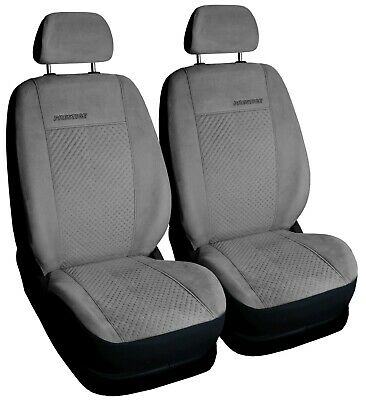 Car seat covers front seats universal grey FAUX SUEDE fit Toyota Prius