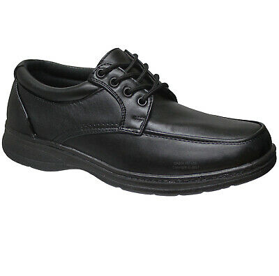 New Mens Comfort Xtra Black Shoes Formal Dress Office Work Casual Size 6-12 Uk
