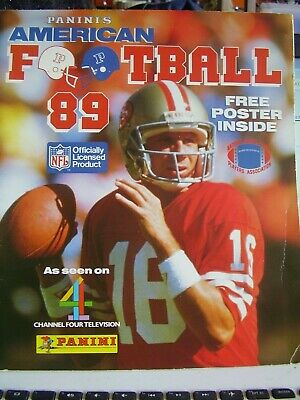 Panini American Football 1989 Nfl With The Poster Inside Unused Rare