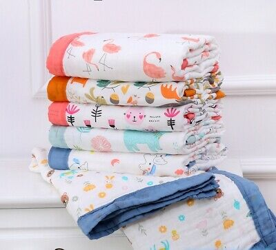 Soft Cotton 6 Layers Baby Swaddle Blankets Toddler Towel Summer Stroller Covers
