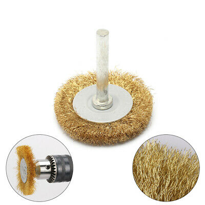 "2Pc 2"" 50mm Copper Wire Brush Polishing Wheel 0.13mm Wire For Metal Rust Removal"