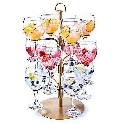 Cocktail Tree Gold - Cocktail Glass Display for 12 Glasses, Gin Tree