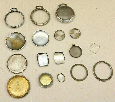 Lot of Watchmaker Vintage Watch Back Case Backs Cases Parts Mixed Estate Find FW