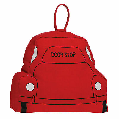Red Fabric Car Door Stop - Stylish design.