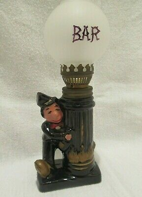 Original Charlie Chaplin Ceramic Drunk Bar Globe Oil Lamp