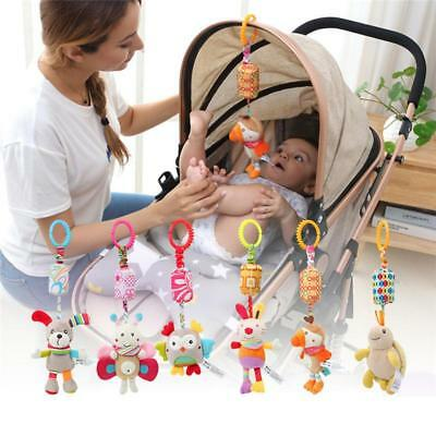 Baby Bed Hanging Toy Infant Stroller Soft Plush Rattle Hand Bell Cute Animal YS