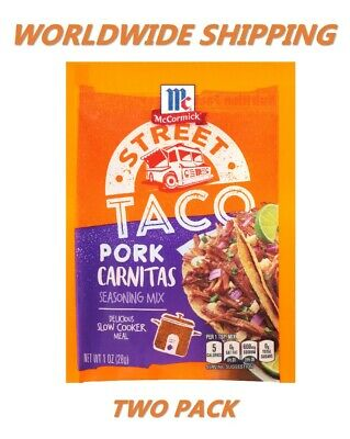 McCormick Street Taco Pork Carnitas Seasoning Mix 1 Oz TWO PACK WORLD SHIP